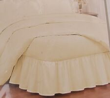 "Ruffled Bedskirt Cotton Blend Twin/Queen/King -14"" Skirt Length - Ivory"