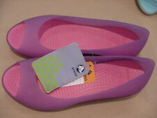 NWT CROCS CARLIE FLAT WOMEN DAHLIA / FUCHSIA SIZE 5 9 OR 10 NEW BALLET SHOES