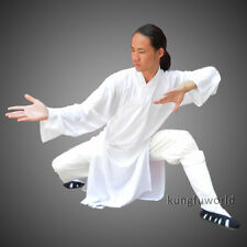 Customize Mid-length Wudang Robe Style Tai chi Uniforms Shaolin Kung fu Suit