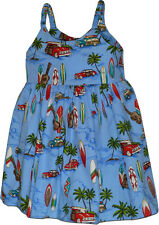 Toddler Hawaiian Dress Woodies 100% Cotton 130-3711 NEW Made in Hawaii, U.S.A
