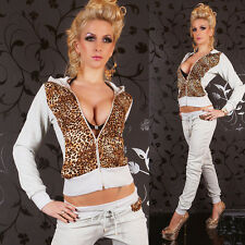 HOT & SEXY FULL LEO TRACKSUIT WITH HOOD JOGGING SUIT BY REDIAL Size 8-12