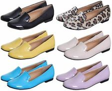 WOMEN'S/LADIES SMART LOAFERS MOCCASINS SLIP-ON PUMP SHOES IN UK SIZES 3-8