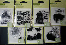 NEW HALLOWEEN MINI CLEAR STAMP SET Pumpkin Bats * Your Choice Design* STUDIO 112