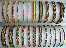 Rasta Friendship Bracelet WRISTBAND Cotton Silk Reggae Jamaica Surfer Hippy Boho