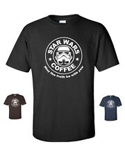 Star Wars Coffee May The Froth Be With You Storm Trooper  Men's Tee Shirt 173