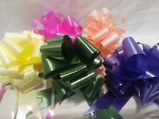 6 X Pull Bows 50mm Various Colours