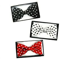 Popular Trends Women Printed Polka Dot Neck Bow Tie Colors