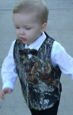 New Mossy Oak Break Up Camo Formal or Wedding Full Back Children kids Vest child