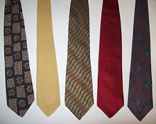 Stafford, Structure, Millennium, Geoffrey Beene, Lands End  Men's 100% Silk Ties
