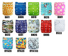 Alva healthful Reusable BAMBOO cloth diaper nappy + bamboo insert U PICK Lot