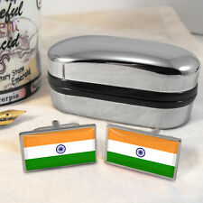 Indian Flag Cufflinks & Box