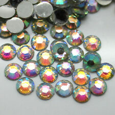 Wholesale 2000~50000pcs 2~6mm 14 Facets Resin Flatback Rhinestones Crystal AB