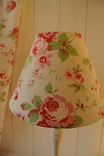 Shabby Chic coolie lampshade Cath Kidston Ikea Rosali rose, white fabric
