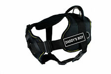 DT FUN with Chest Support Dog Harness in Yellow Trim - DADDY'S BOY