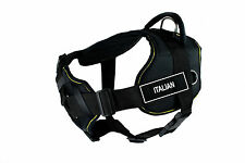 DT FUN with Chest Support Dog Harness in Yellow Trim - ITALIAN