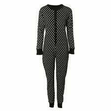 Women's Buttoned Fitted Stretchy Full Sleeve Ladies Jumpsuit Onesie Onezie Star