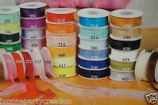 "25 YARDS OF 5/8"" wide ORGANZA PLAIN SHEER RIBBON (CHOOSE FROM ANY COLORS)"