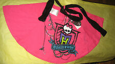 MONSTER HIGH (NWT) Girls Black Sequin Scarf & Pink Circle Top w/Skullette & MH