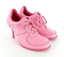 Carrini CA Collection Pink Sneaker Lace Up Stiletto Heels Shoes Sizes 6 to 10