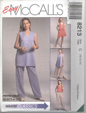 McCall's 8213  Misses' Vest 2 Lengths,Pull-On Pants/Shorts/Skirt Sewing Pattern