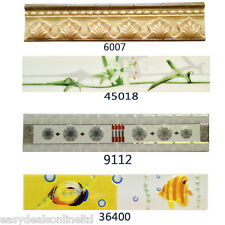 Ceramic Tile Bathroom Wall / Kitchen Wall Border Tiles - Variety Ceramic Borders
