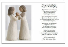 ... Wedding Day Poem Gift ? TO MY SISTER on your Marriage/Wedding
