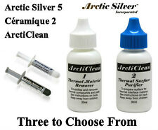 New Arctic Silver 5 - ArctiClean - Ceramique 2 Thermal Compound CPU GPU Xbox PS3