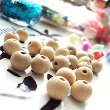 crafts&gifts 12mm Original Color Round Wood Beads Fashion Wooden DIY Findings