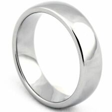 6mm/8mm Plain Tungsten Carbide Dome Ring Comfort Fit Men's Wedding Band Jewelry