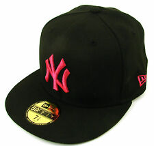 New Era Cap 59Fifty New York Yankees Seasonal Basic Black/Pink Rose Fitted Hat