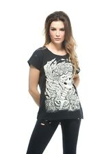 NEW IRON FIST - LADY OF THE LAKE Skull Emo Rock Goth Black T Shirt