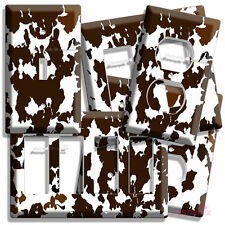 COW SKIN PRINT ANIMAL HIDE LIGHT SWITCH OUTLET WALL PLATE COVER ROOM DECORATION