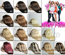 Clip In Remy Extensions 100% Real Human Hair FULL HEAD SET ANY COLORS 14''-22''