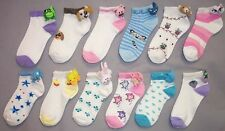 Wholesale Lot 1Dz Girls Fashion Crew Socks - Animal Heads - Size: S-XL (E000421)