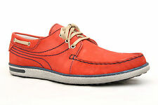 Mens UK 7  - 11 Moshulu Red Leather Buckland Deck/Boat Shoes (New) RRP £69.99