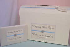 Wedding Guest Book & Post Box Set. Personalised Wedding Guest Book & Post Box.