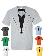 Tuxedo Tux Wedding BOW TIE Funny Gift Groom College Party Men's Tee Shirt 318