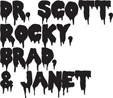 Dr. Scott, Rocky, Brad &Janet Vinyl Decal Rocky Horror Picture Show Cult sticker