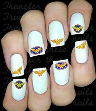 30 WONDERWOMAN LOGO NAIL ART DECALS STICKERS/TRANSFERS PARTY FAVORS MIX & MATCH