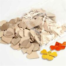 Craft Hearts Wood Mosaic Shapes, 18-30 mm, birch, hearts, 250 pcs asstd