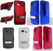 For HTC Incredible 4G LTE 6410 Holster Belt Clip Metal Stand Hard Cover Case