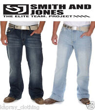 Mens Smith And Jones Enrico Bootcut Jeans Light Wash & Dark Wash Sizes W30-38