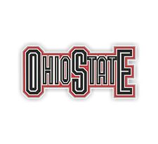 Ohio State (Staright Letters) Vinyl Die-cut Decal / Sticker ** 4 Sizes **