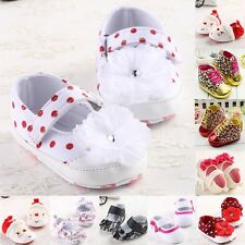 24 Mixed New Style Baby Girls Soft Crib Shoes 3 Size Age 0-18 Months