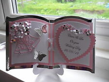 Beautiful Personalised Handmade Bookatrix Wedding Day/Anniversary Card