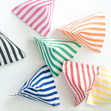 100 x CANDY STRIPE PAPER SWEET FAVOUR BUFFET BAGS -5x7 INCHES
