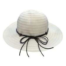 Wide brimmed FOLDABLE sun hat with beads - pack in suitcase - 3 Colours - BNWT