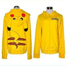 2013 New Cotton Blend Pikachu Pokemon Anime Sweater Hoodie High Quality FreeShip