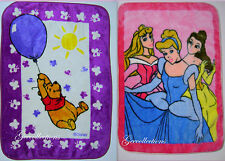 Disney Princess~PINK POOH Balloon~PURPLE Baby PLUSH Crib Stroller Blanket Throw