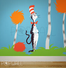 Children Wall Decals Wall Sticker - Dr seuss Characters, Cat in the Hat, Lorax
